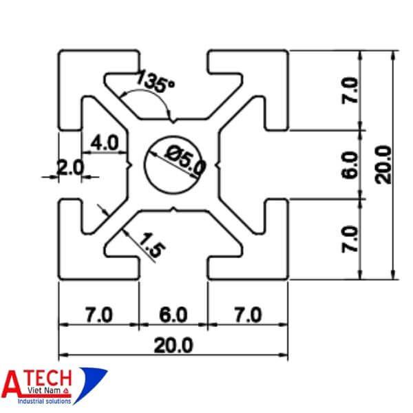 Thông-số-kỹ-thuật-nhôm-định-hình-20x20